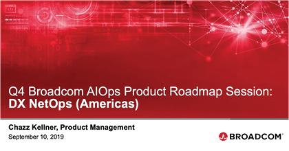 DX NetOps Q4 Roadmap - Americas