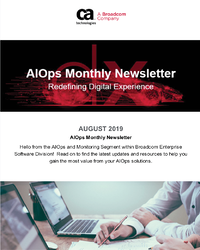AIOps and Monitoring Newsletter - August 2019
