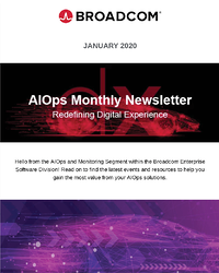 AIOps and Monitoring Newsletter  - January 2020