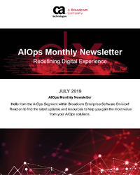 AIOps and Monitoring Newsletter  - July 2019