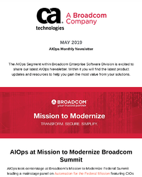 AIOps and Monitoring Newsletter - May 2019