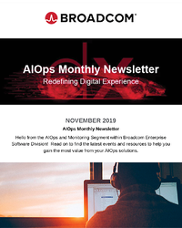 AIOps and Monitoring Newsletter - November 2019