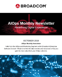 AIOps and Monitoring Newsletter  - October 2019